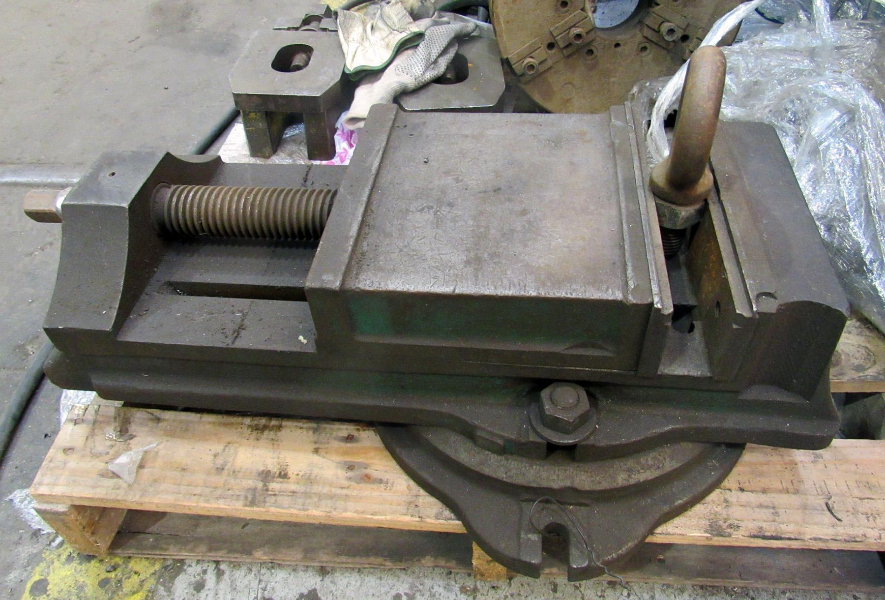 "USED, 9"" HEAVY DUTY VISE ON ROTARY TABLE"