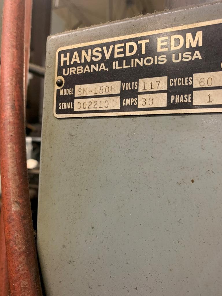 30 AMP HANSVEDT SM-150 B RAM TYPE EDM MACHINE
