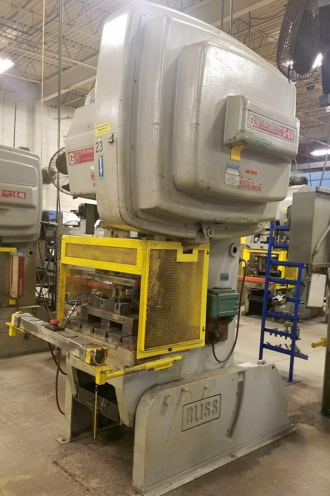 60 ton Bliss C-60 OBI Flywheel Press, New 1980