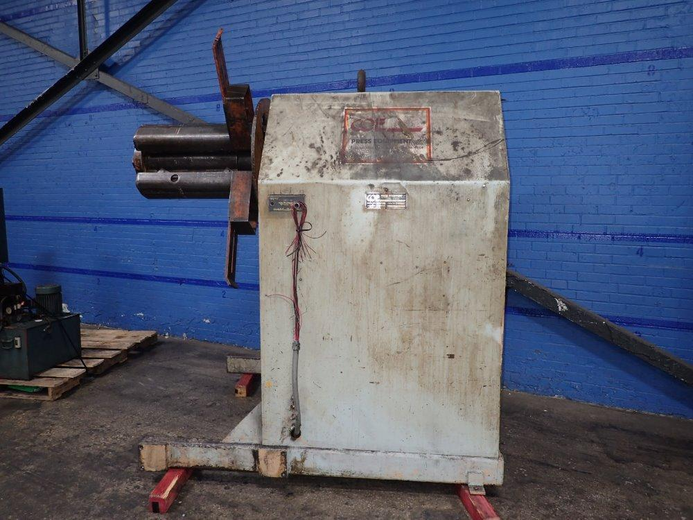 COE PRESS Pull Off Coil Reel Uncoiler 15,000 lb
