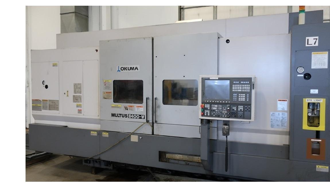 """Okuma Multus B-400-W 1500 Mill Turn CNC Lathe, 15"""" Chuck, A2-11, 4.33"""" Bore Thru, Y-Axis , ONLY 2900 cut hours, New 2011"""