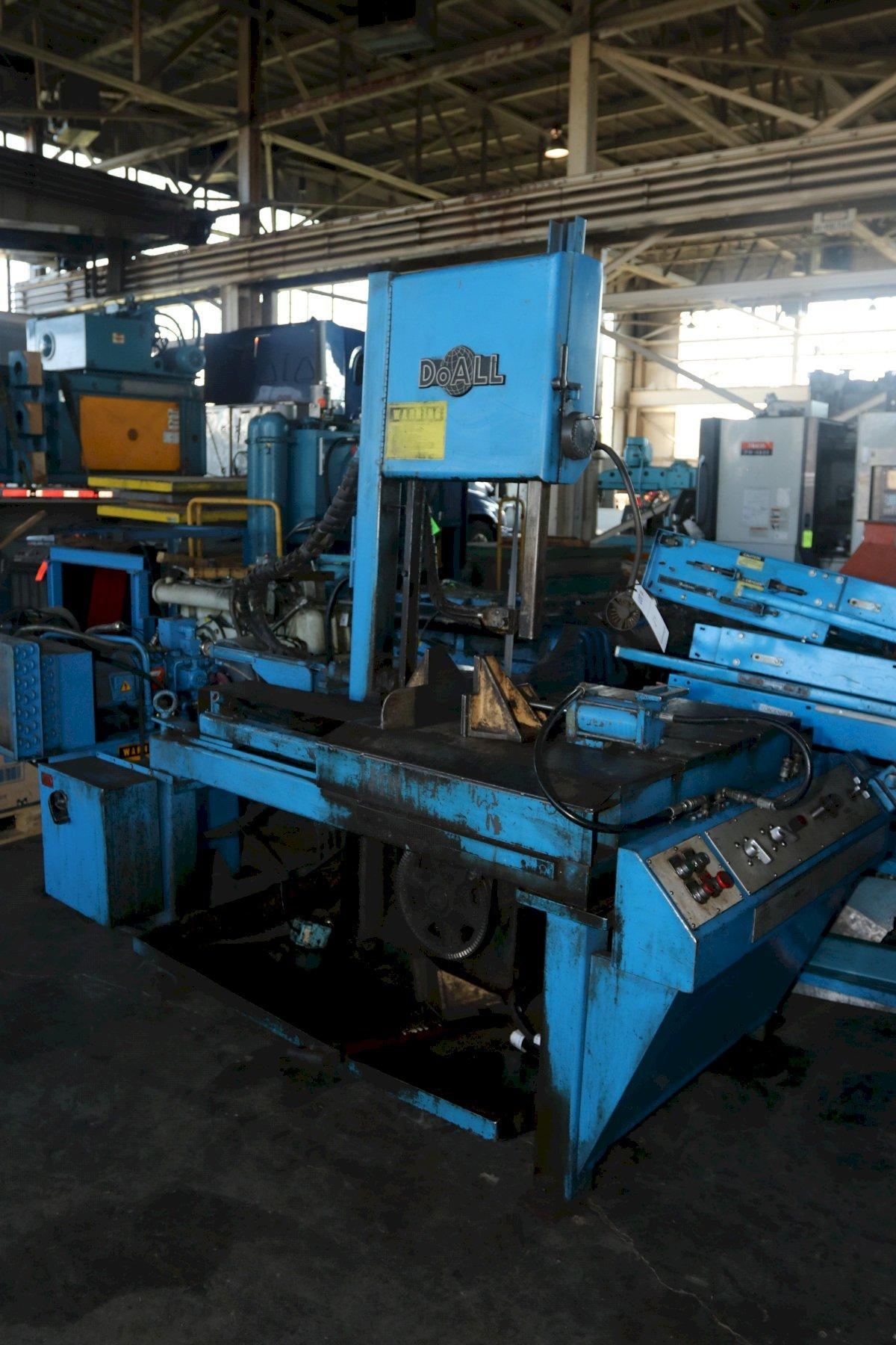 """14"""" X 21"""" DOALL MODEL TF-1421H HYDRAULIC VERTICAL BAND SAW: STOCK #12991"""