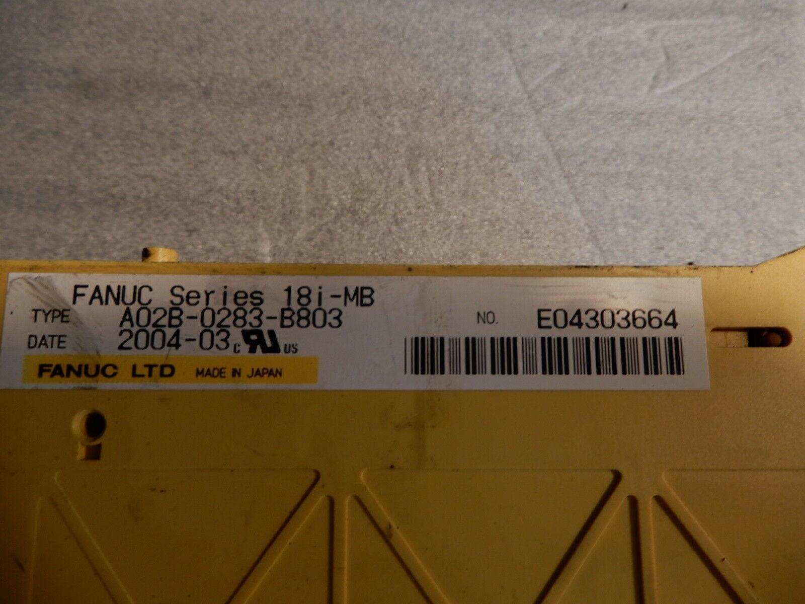FANUC Series 18i-MB NO E04303664, A02B-0283-B803