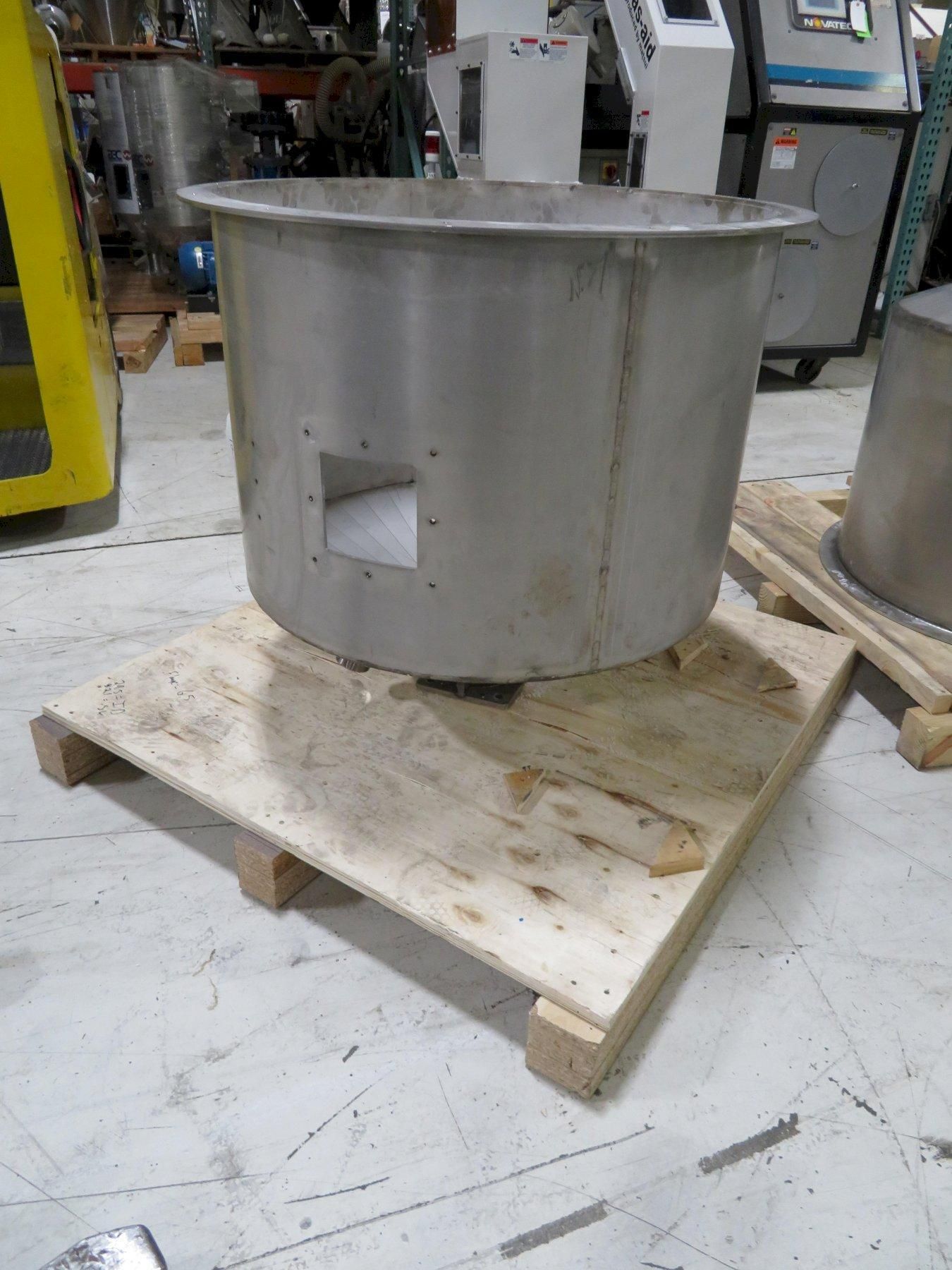 Stainless Steel Used Material Hoppers, Approx 300 lb capacity