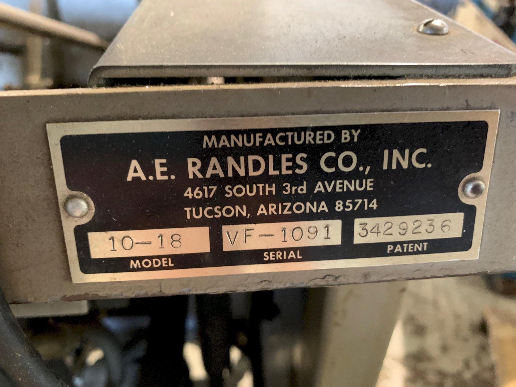AE Randles Model 10-18 Tray & Carton Forming Machine