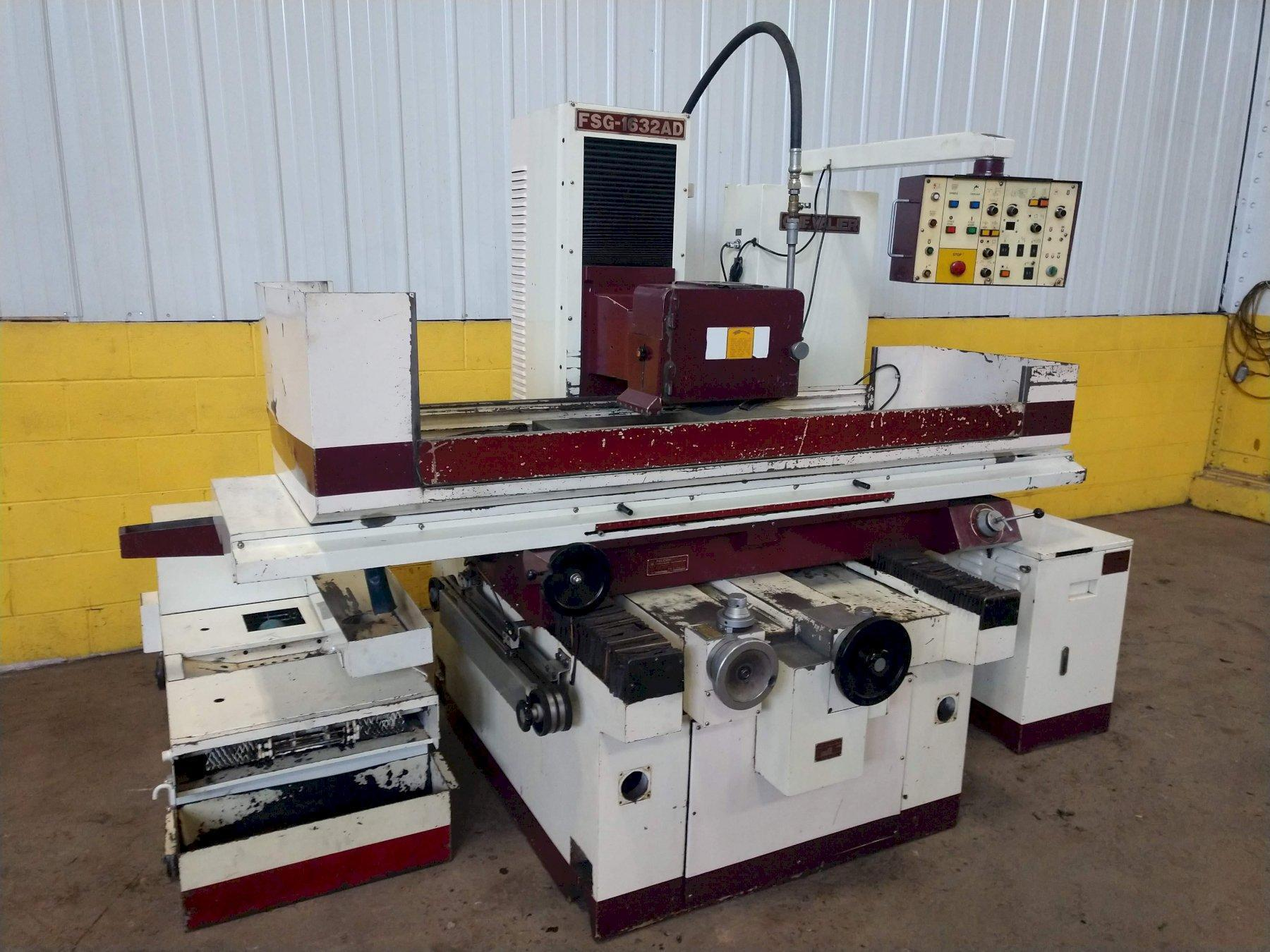 """16"""" X 32"""" CHEVALIER FALCON MODEL #FGG-1632AD AUTOMATIC HORIZONTAL SURFACE GRINDER"""