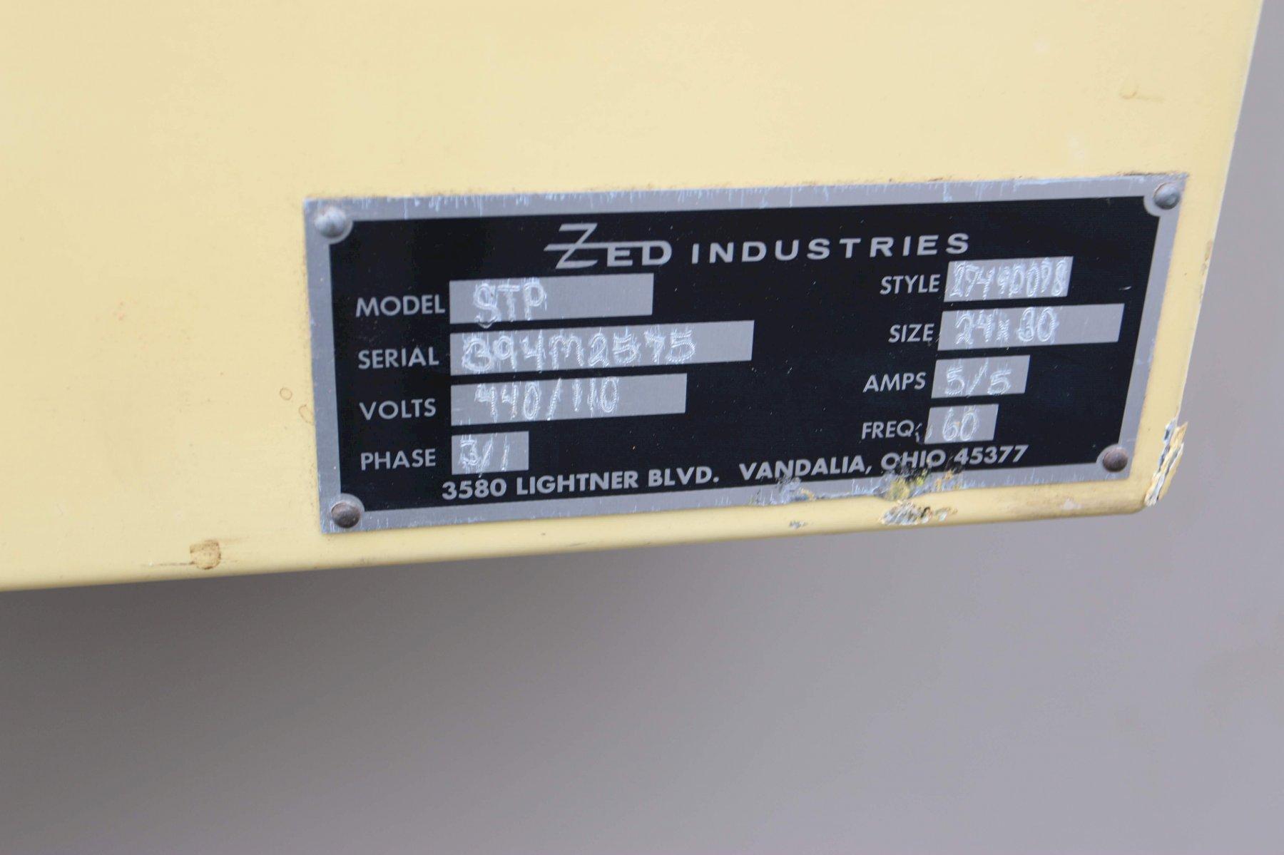 ZED MODEL STP 80 TON DIE CUTTER PRESS:  STOCK #70670