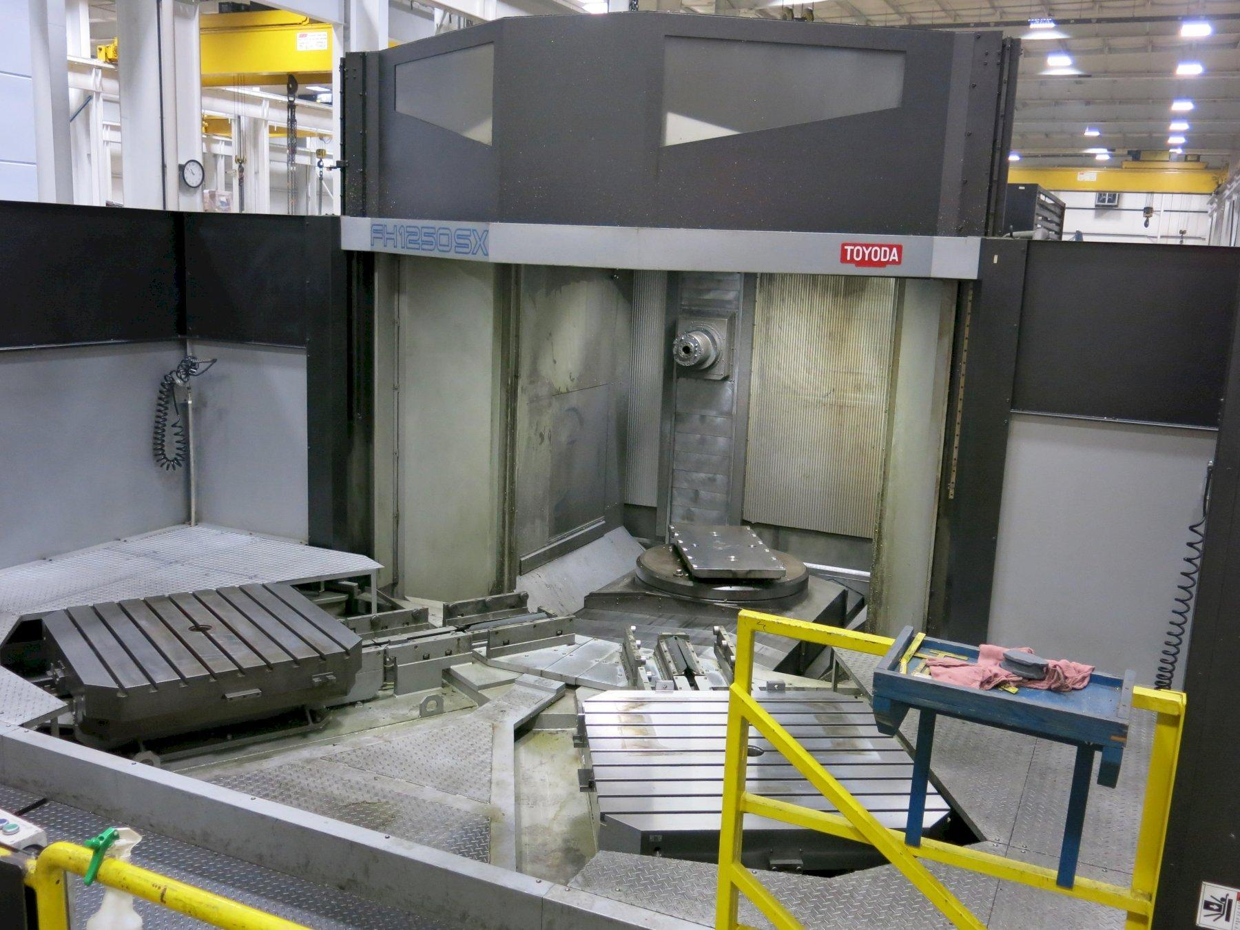 Toyoda Model FH-1250SX CNC Horizontal Machining Center, Fanuc 31i, 8000 RPM Spindle, 1-Deg. Index, Coolant Thru, CAT 50, 60 ATC, Probing, 50HP, New 2008