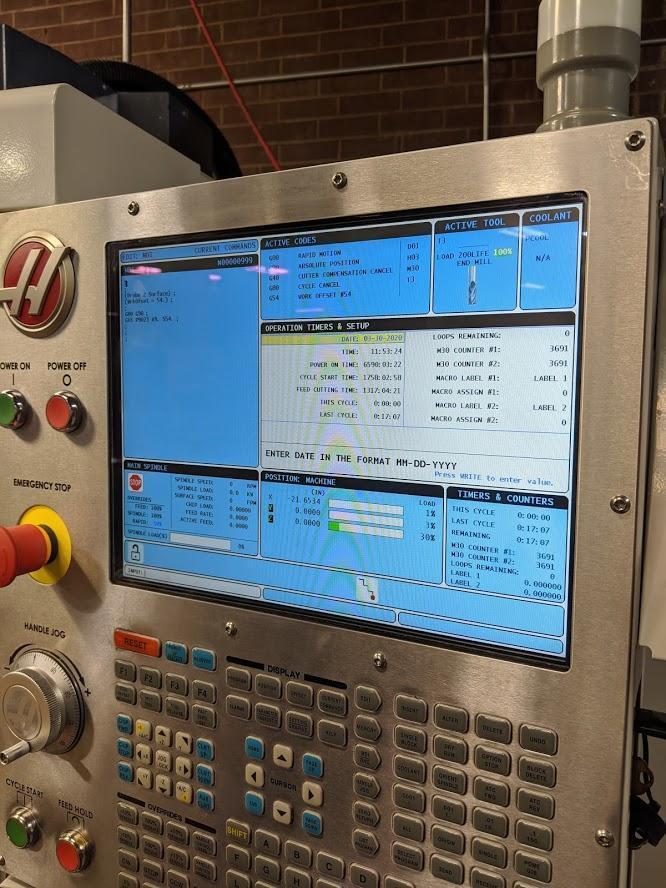 "2014 Haas TM3P Vertical Machining Center, 40"" x 20"""