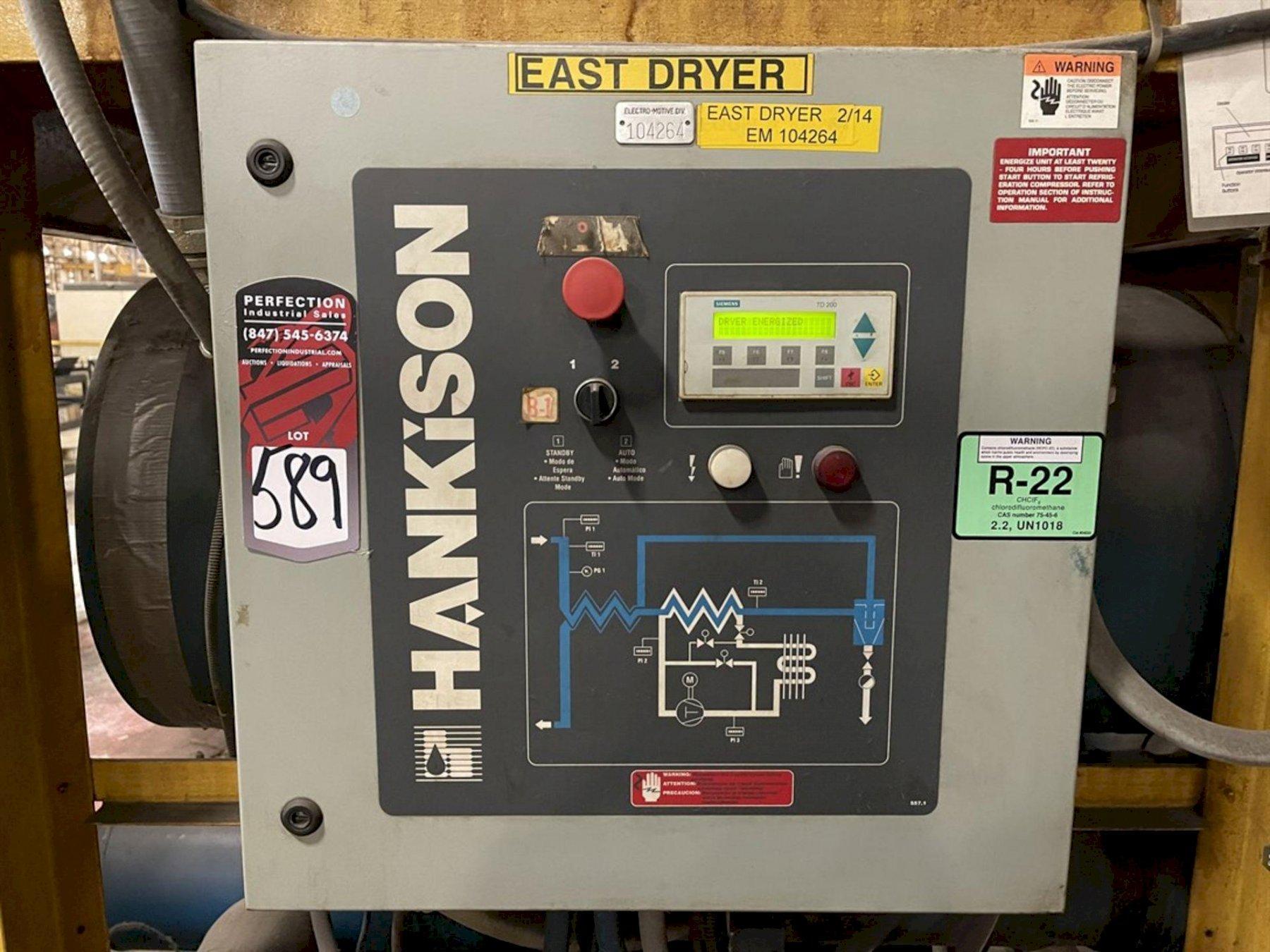 5000 SCFM @ 100 PSIG HANKINSON KHD5000 COMPRESSED AIR DRYER. STOCK # 0530021