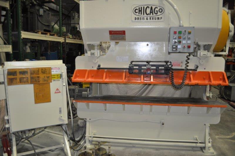 60 TON CHICAGO DRIES & KRUMP MECHANICAL PRESS BRAKE