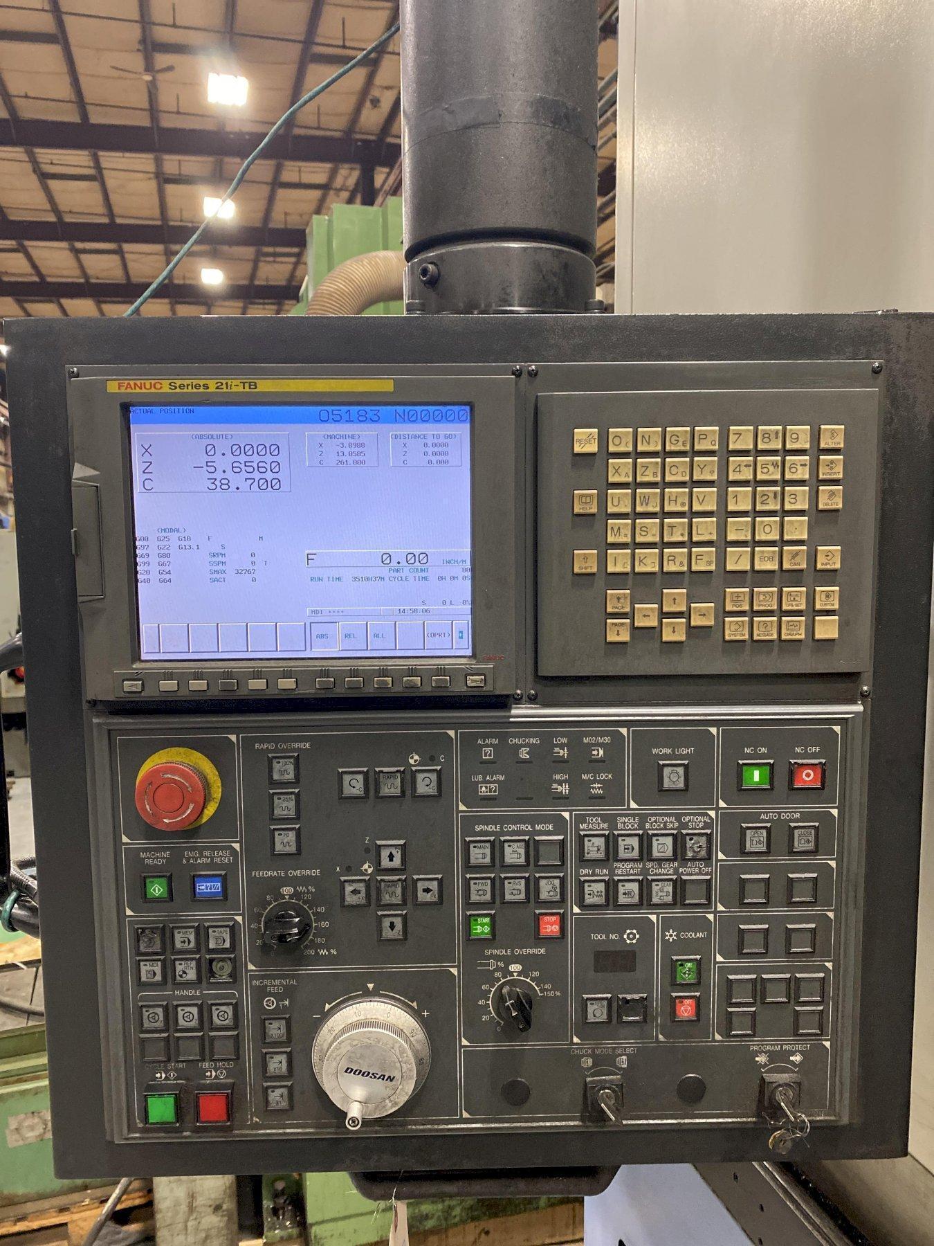 Doosan Puma V550M CNC Vertical Turret Lathe