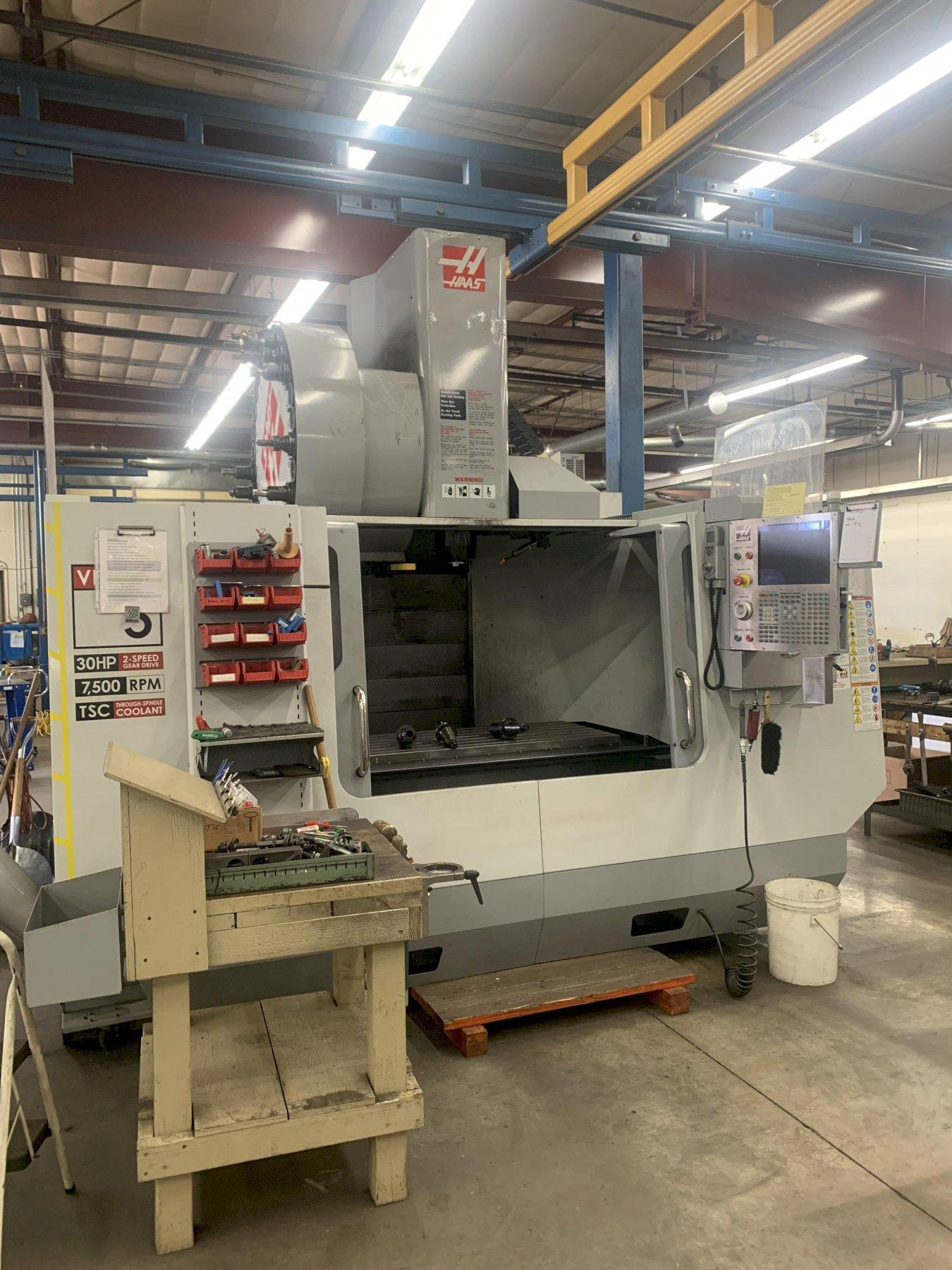 HAAS VF5/50 VERTICAL MACHINING CENTER, NEW 2008: STOCK #12963