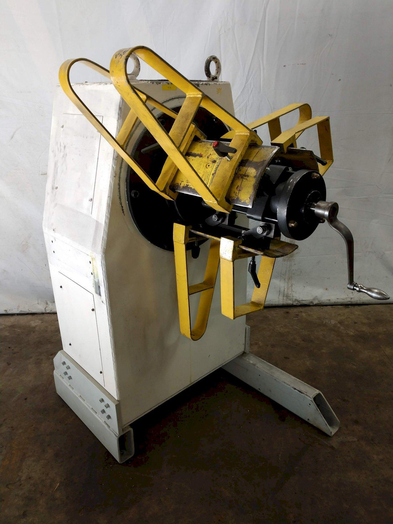 "1100 LB X 16"" GSW MODEL #MHM0.5/1250SO SERVO MOTORIZED COIL REEL UNCOILER: STOCK 12990"