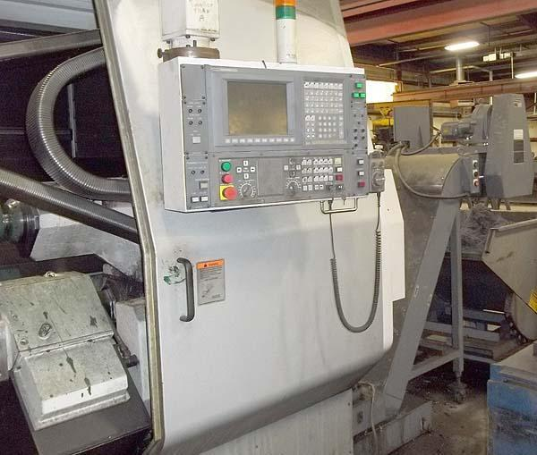 "OKUMA LOC650-2SC/1750 14.75""Bore, OSP E100L CNC Control, 31.5"" Swing Over the Bed, 25.6"" Max Turning Diameter, Upper and Lower Turret, Shunk Big Bore Chuck, 14.75"" Hole, Front & Rear Chucks, New 2007."