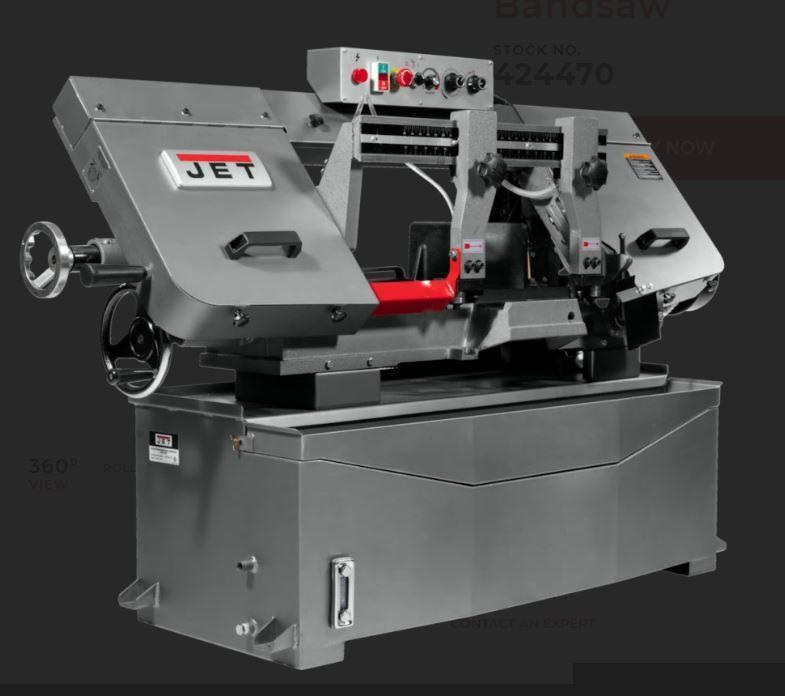 1 - NEW JET 10 in  X 18 in  EVS HORIZONTAL BANDSAW,<br>MODEL #: HBS-1018 EVS