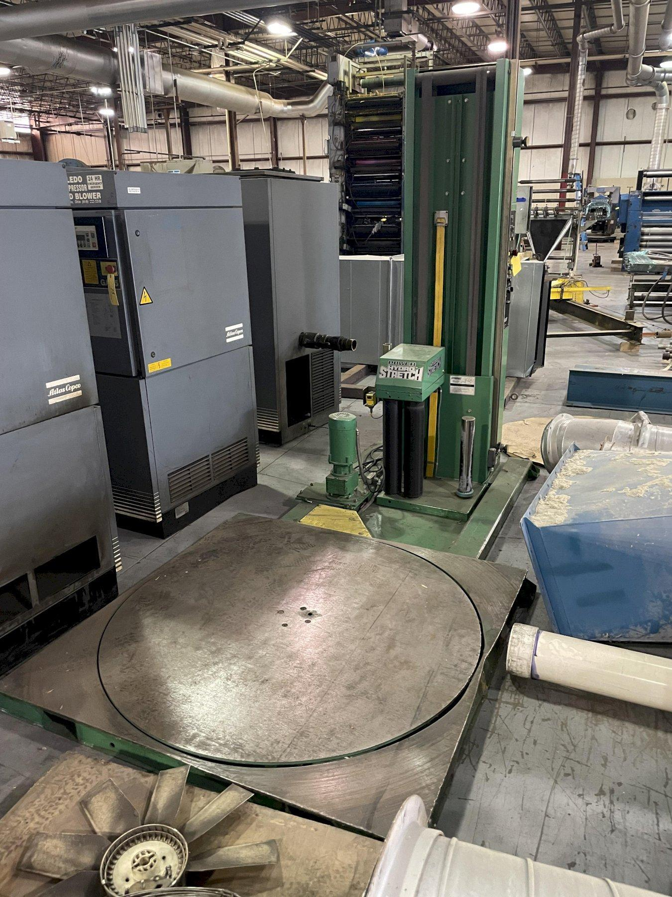 """48"""" X 5000 LBS HIGHLIGHT SYNERGY 2 HORIZONTAL PALLET WRAPPING MACHINE: STOCK #15459"""