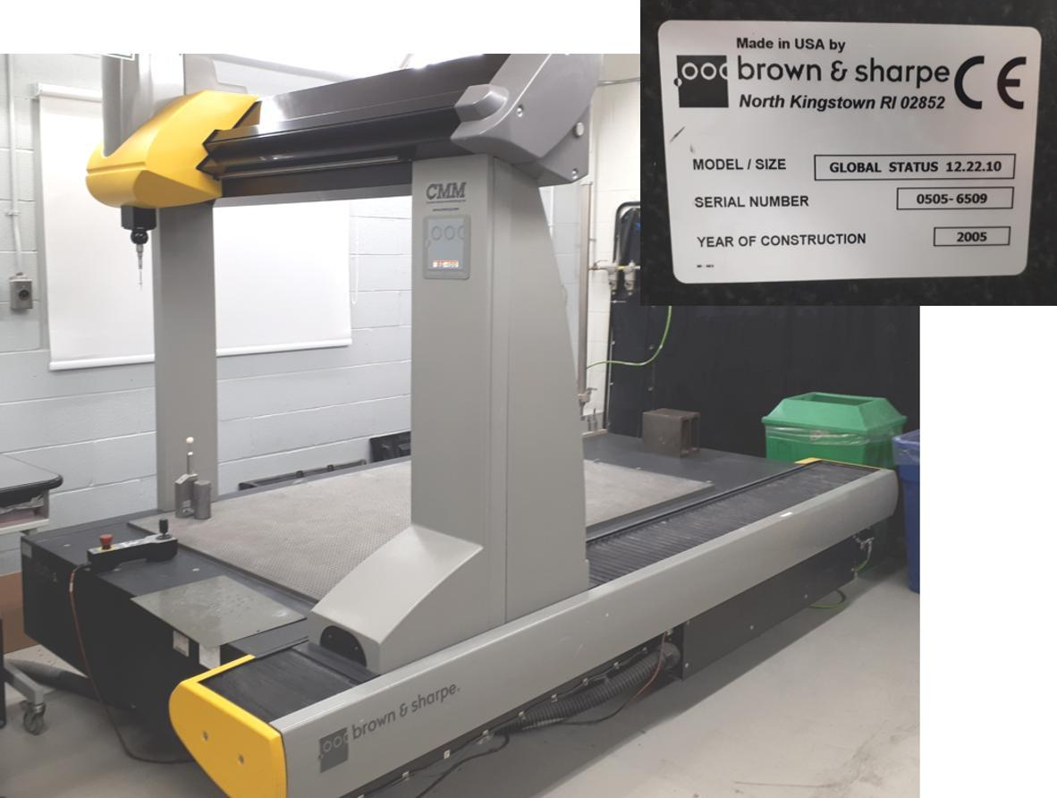 "Brown & Sharpe Global Performance 12-22-10 CMM,New 2005, 47""x86""x39"", PCDMIS CAD++(2019), Renishaw PH10MQ, TP200 High & Low Force Stylus modules"
