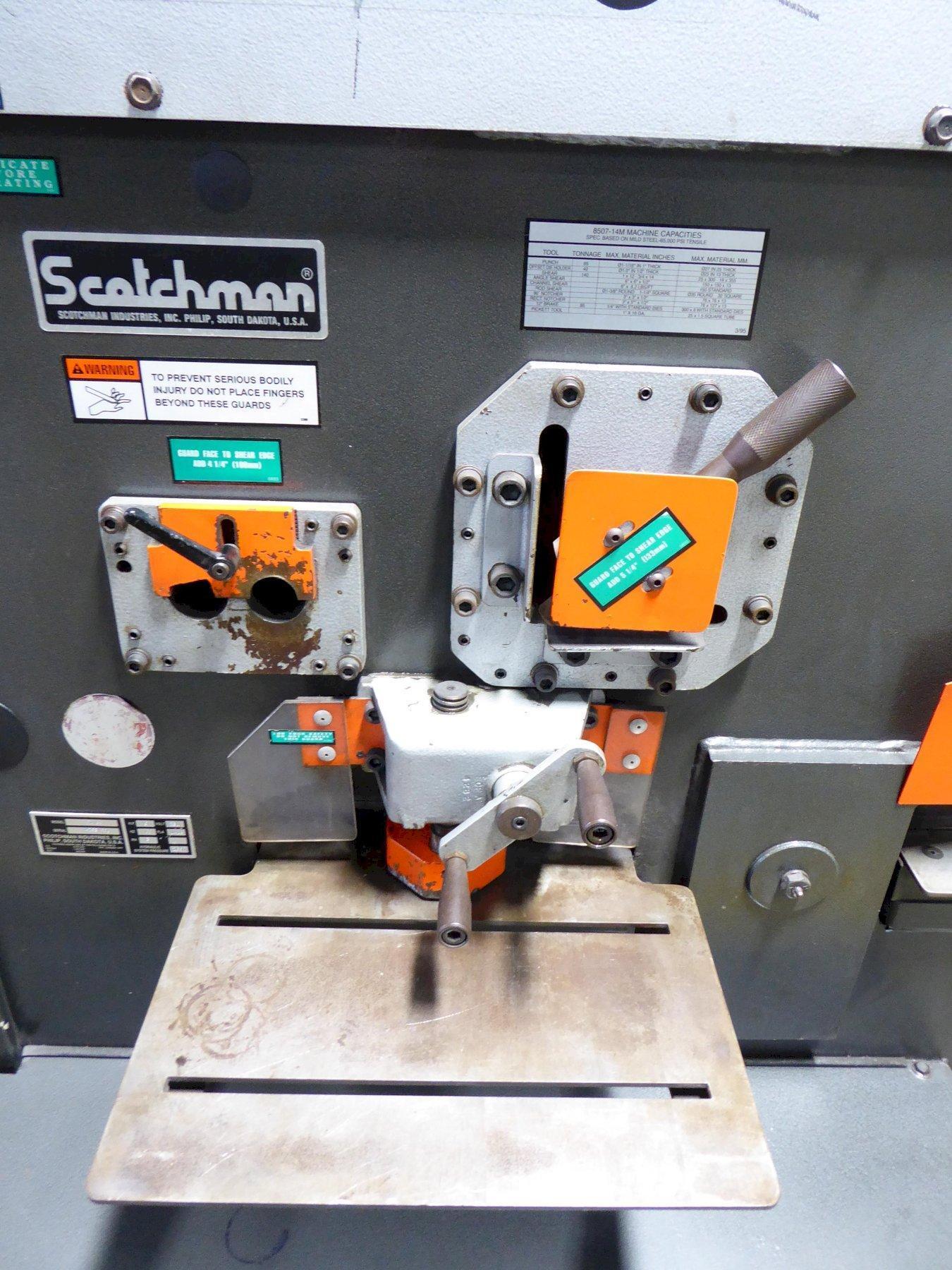85 Ton SCOTCHMAN Hydraulic Ironworker, FI-8507, Five Station, Nice