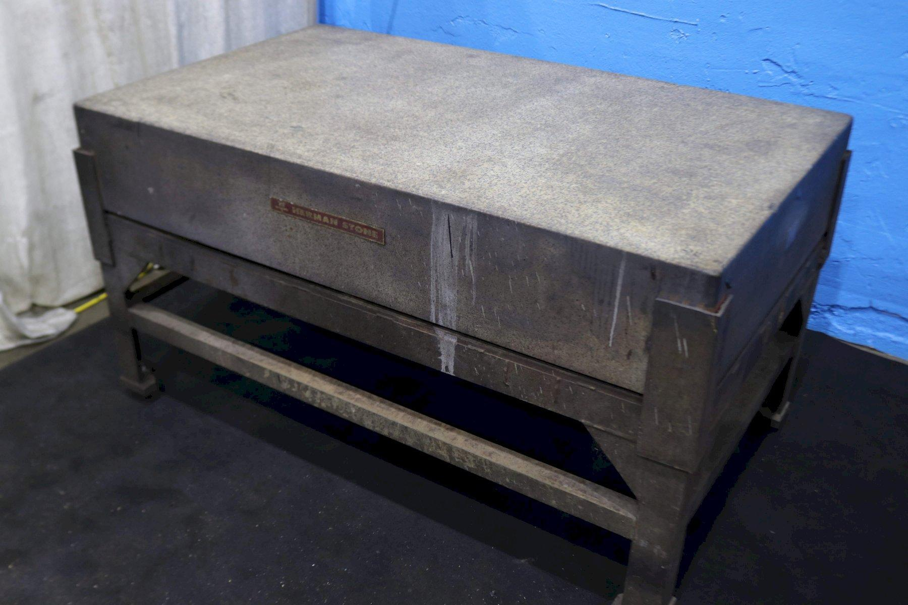 """36"""" X 60' X 10"""" GRANITE PLATE WITH STAND: STOCK #73520"""