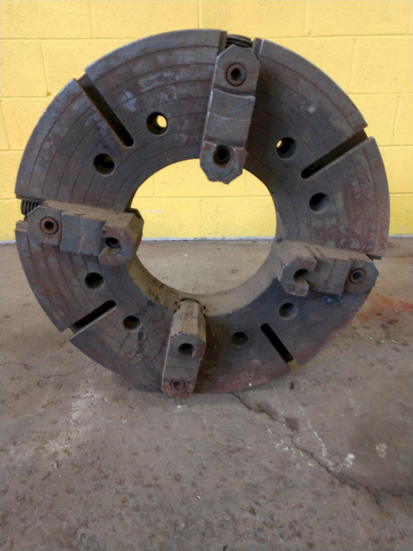 "28"" SUMMIT 4 JAW WITH 12.5""  HOLLOW SPINDLE LATHE CHUCK: STOCK #12930"