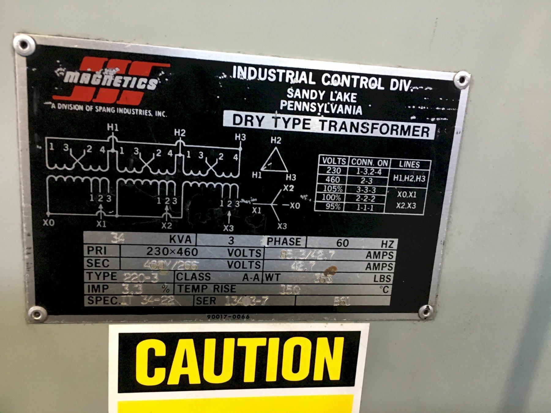 34 KVA MagneticS DRY TYPE TRANSFORMER