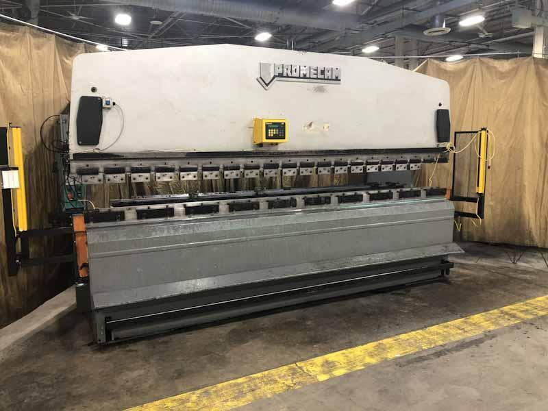 110 Ton x 13' (4000mm) Promecam Model RG-104 Hydraulic Upacting Press Brake