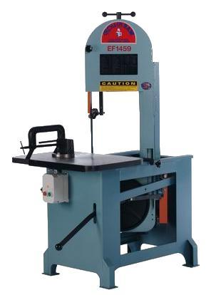 14″ Roll-In Vertical Band Saw No. EF1459, 8-1/2″ Rounds, 1 HP, New