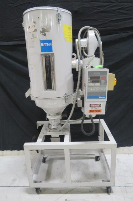 Matsui Used HDII-50-RDH Hot Air Material Dryer, 110 lb capacity, Yr. 2003, 460V