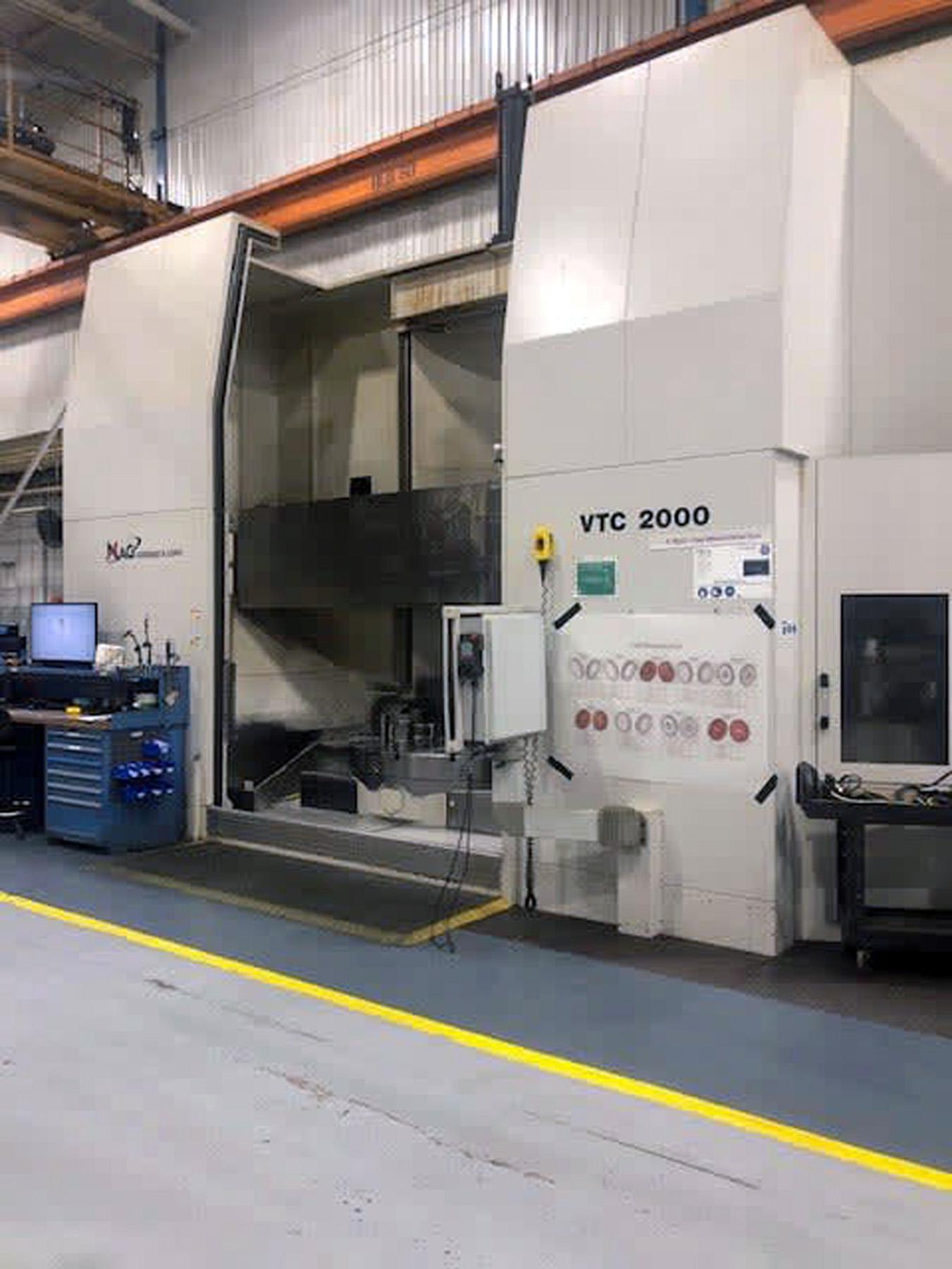"""78"""" GIDDINGS & LEWIS VTC 2000 ADJUSTABLE RAIL CNC VERTICAL TURNING CENTER"""