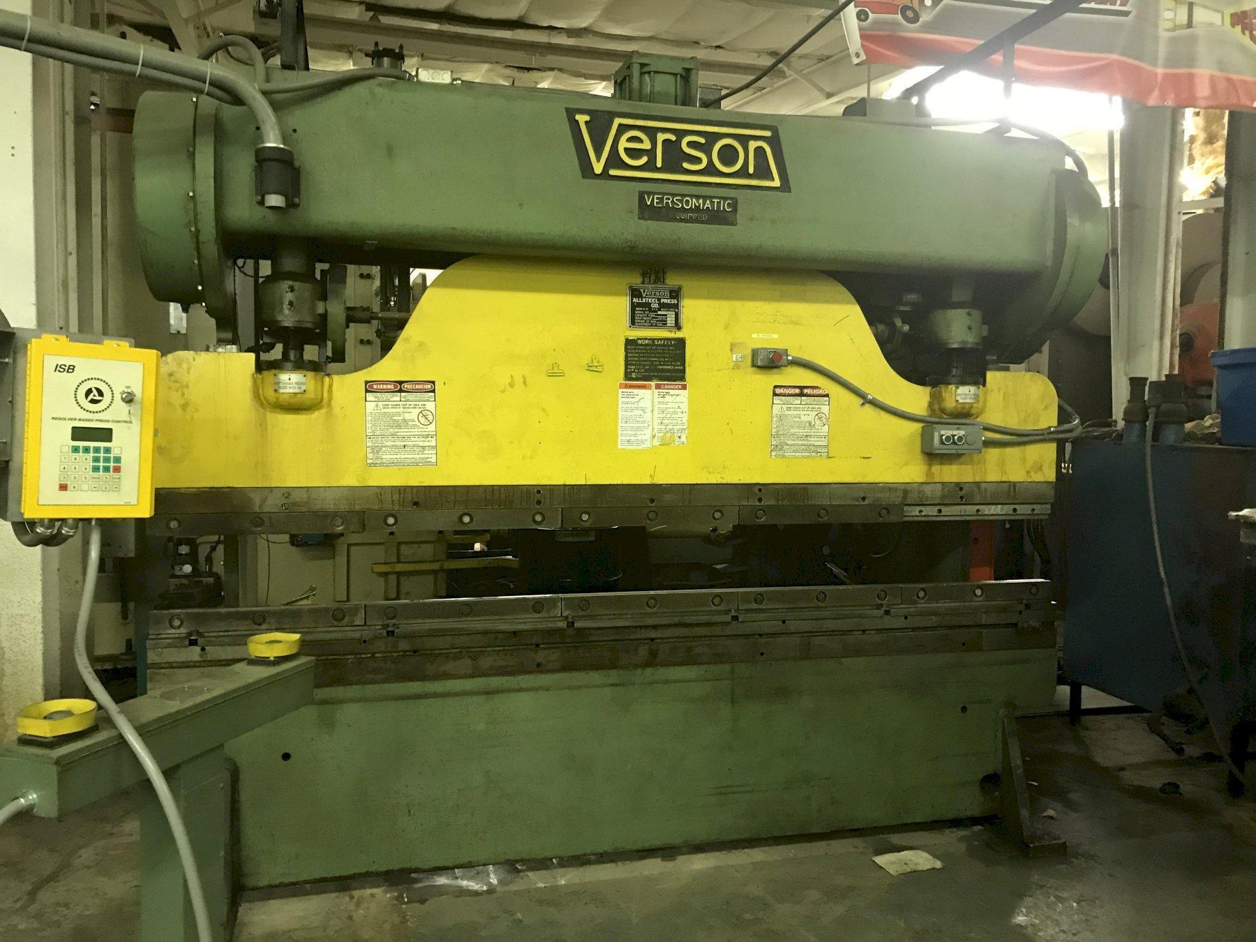 (1) PREOWNED VERSON 65-TON 8 ftMECHANICAL PRESS BRAKE
