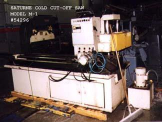 1 - PREOWNED SATURNE COLD CUT-OFF SAW, MODEL #: M-1, S/N: 2767
