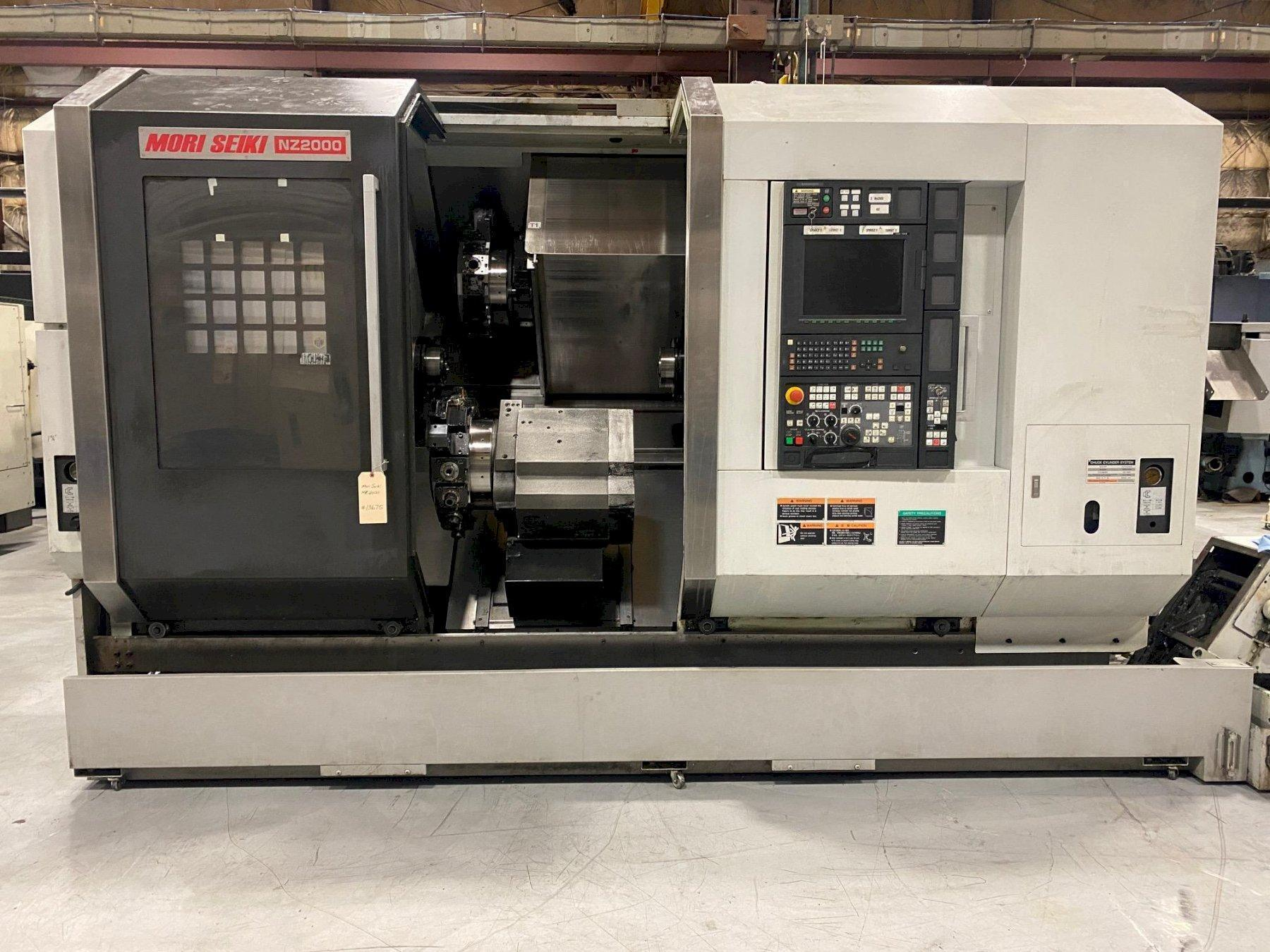 2008 MORI SEIKI MODEL #NZ2000 CNC TWIN TURRET TWIN SPINDLE TURNING CENTER LATHE WITH LIVE TOOLING: STOCK 15146