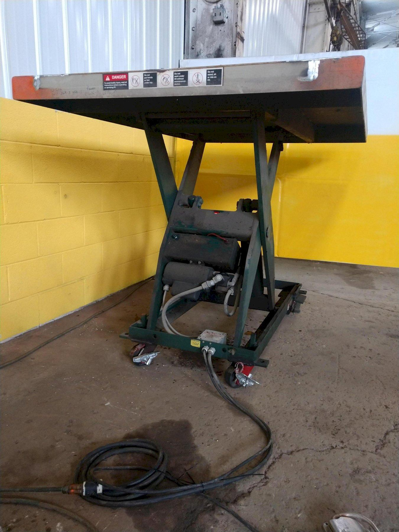 "4,000 LB x 48"" x 72"" SOUTHWORTH ROLLING SCISSOR LIFT TABLE: STOCK #2149"