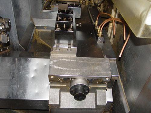 "MORI SEIKI CL-05 CNC GANG STYLE, Mori Seiki MSC-801 CNC Control, 12"" Swing, S. Mori Seiki LG-01 Integrated Gantry Robot, Auto Chuck Changer, (4) Tool Stations, New 1996."