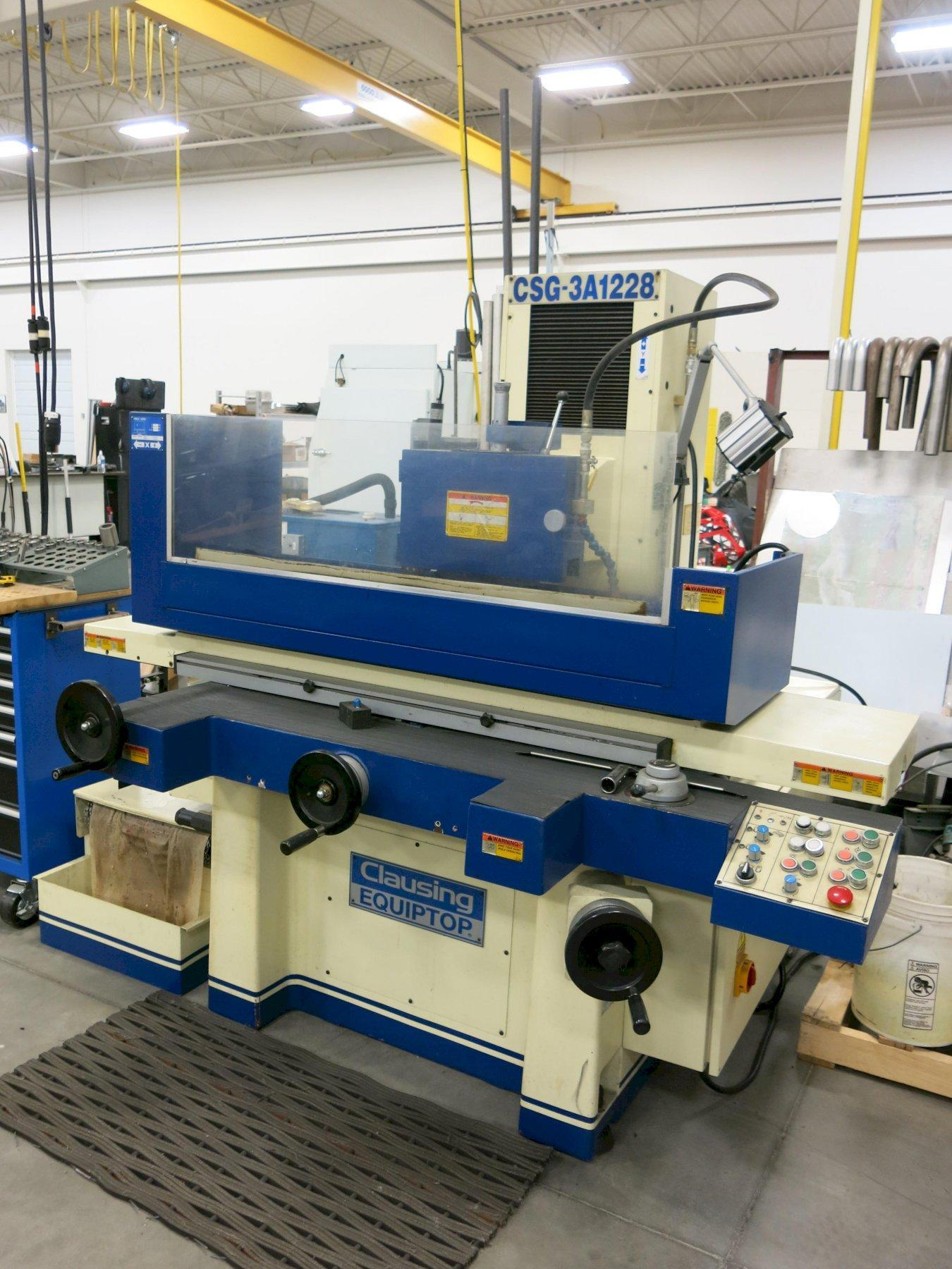 "12 x 28 - Clausing Equiptool CSG3A1228 Hydraulic Precision Surface Grinder,  12 x 28 Chuck, Over Wheel Dress, 0.001"" Manual DF, New 2000"