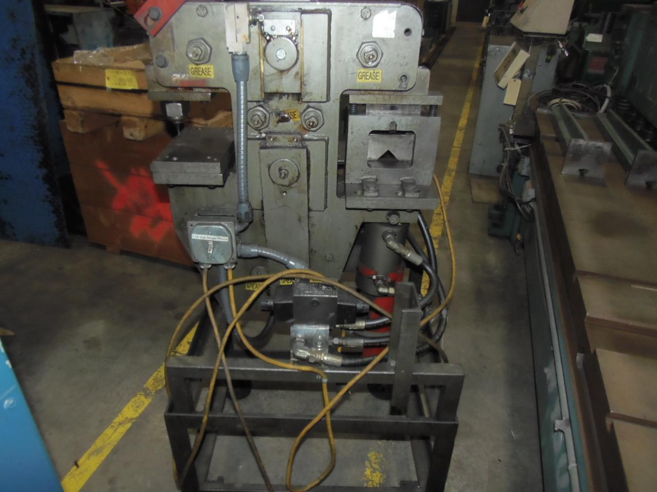 "25 TON EDWARDS IRONWORKER, 1"" PUNCH, OPEN STATION, SINGLE PHASE 110V, 1994"