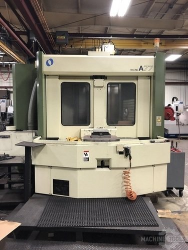 MAKINO A-77 CNC HORIZONTAL MACHINING CENTER w/Fanuc Pro 3, CTS, Full 4th, 18K Spindle, 50 Taper, 40 ATC, SGI, BURBS, Helical, 1997