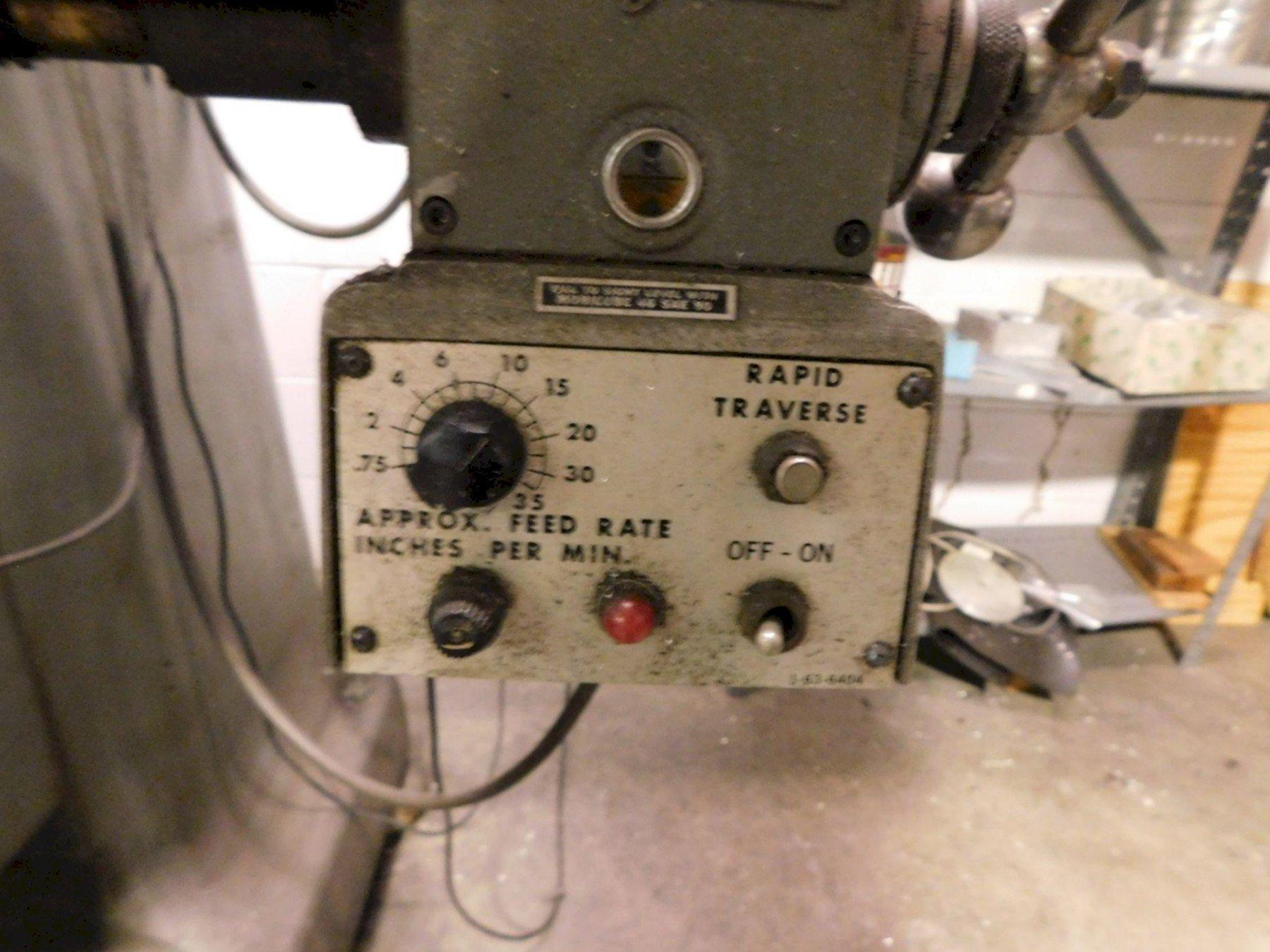 "BRIDGEPORT SERIES 1 VERTICAL KNEE MILL, 2-Axis Acu-Rite II DRO, 9"" x 48"" Table, Servo Power Table Feed, 2 HP Motor, 500-4200 RPM, New 1980."