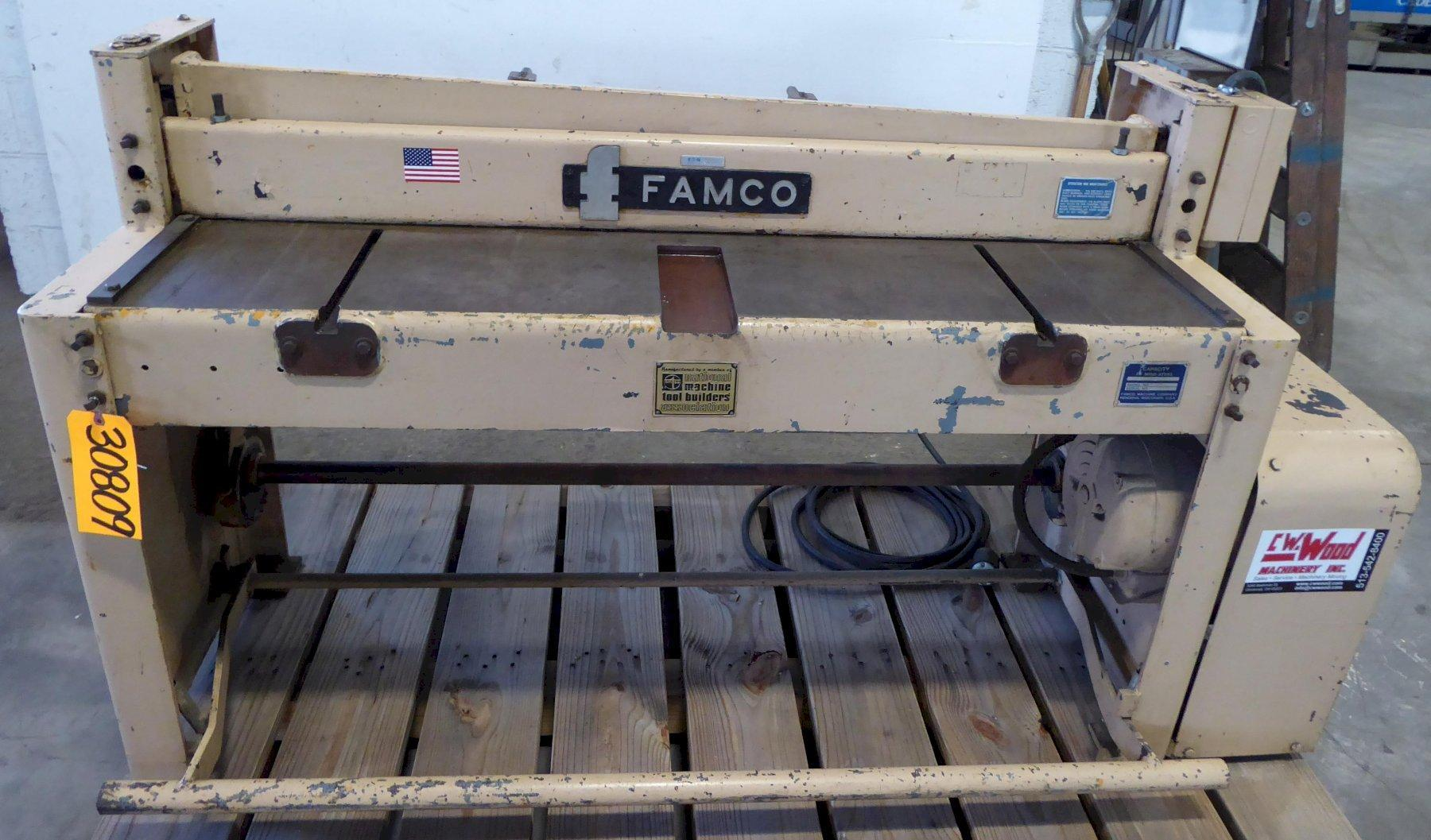 52″ x 16 Ga. Famco Power Shear No. M52, Mechanical, Back Gauge, 2 HP, Clean