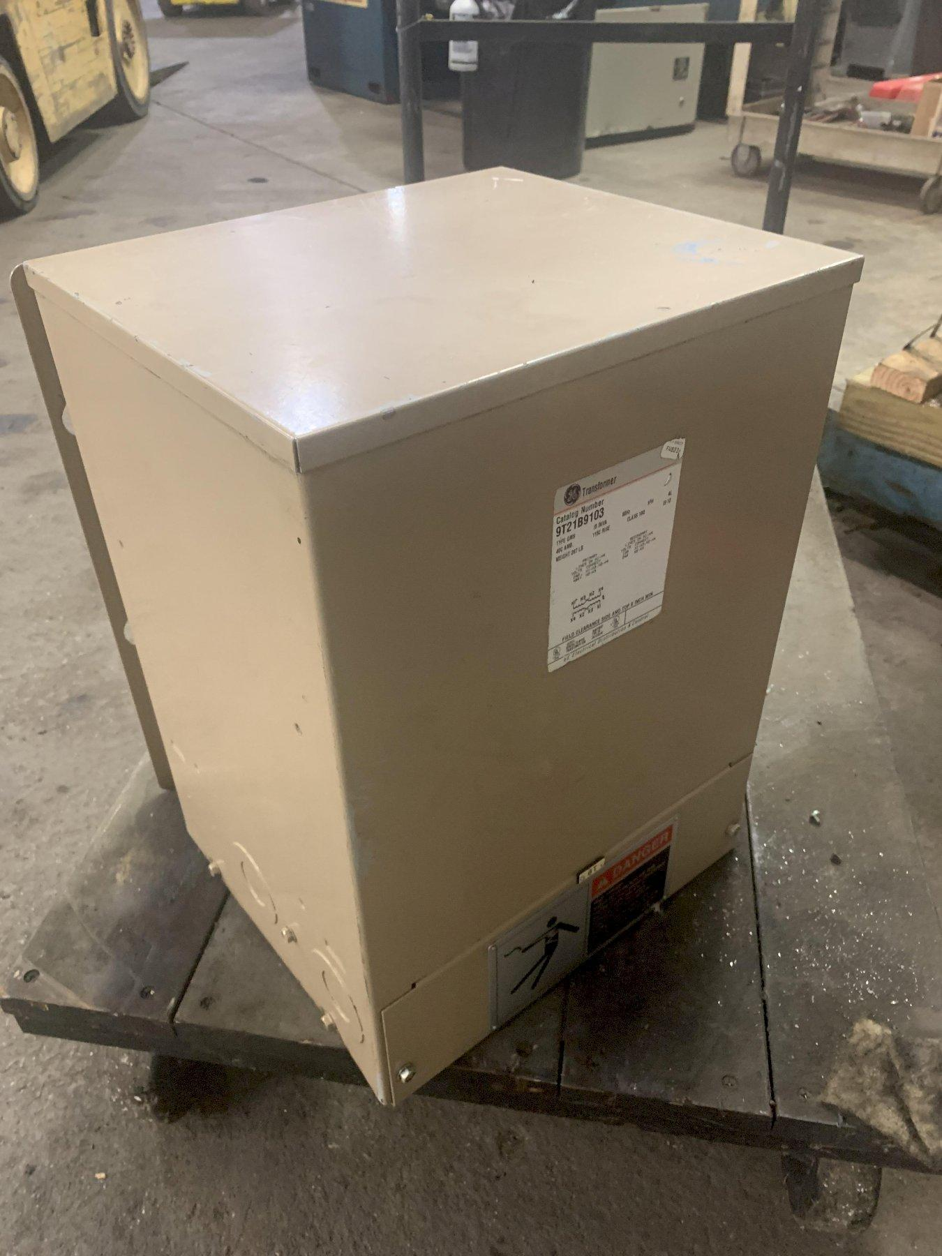 15 KVA GE 480 TO 240 VOLT SINGLE PHASE ELECTRICAL TRANSFORMER: STOCK 13740