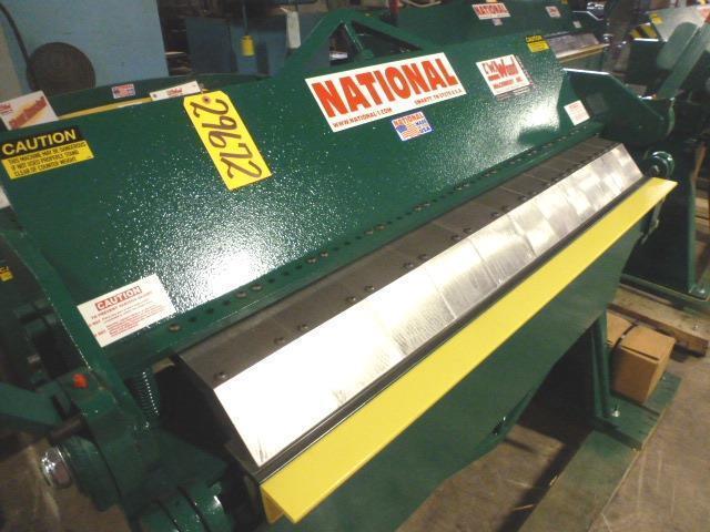 """12 Ga. x 4' NATIONAL, No. U6-4812, Floor Model, 6"""" Max. Depth Of Box, New"""