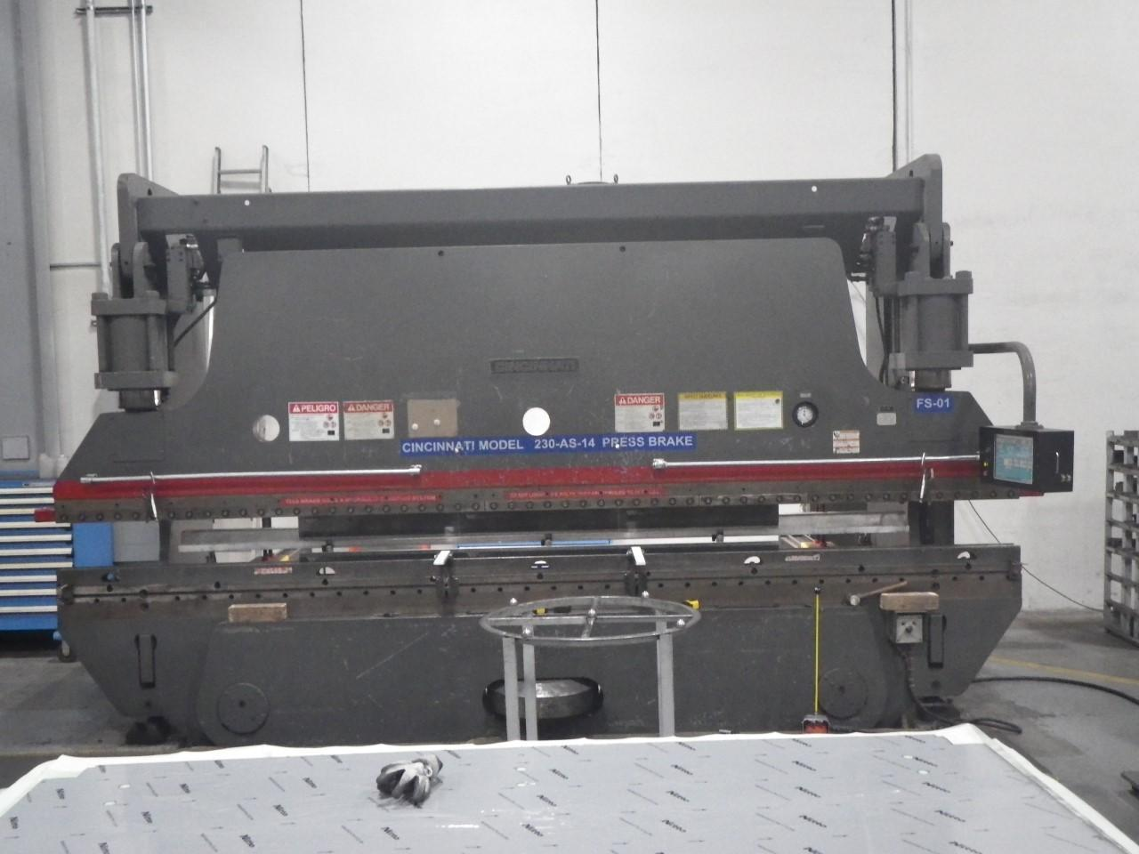 1984 Cincinnati 230ASx14, 16' x 230 Ton CNC Hydraulic Press Brake