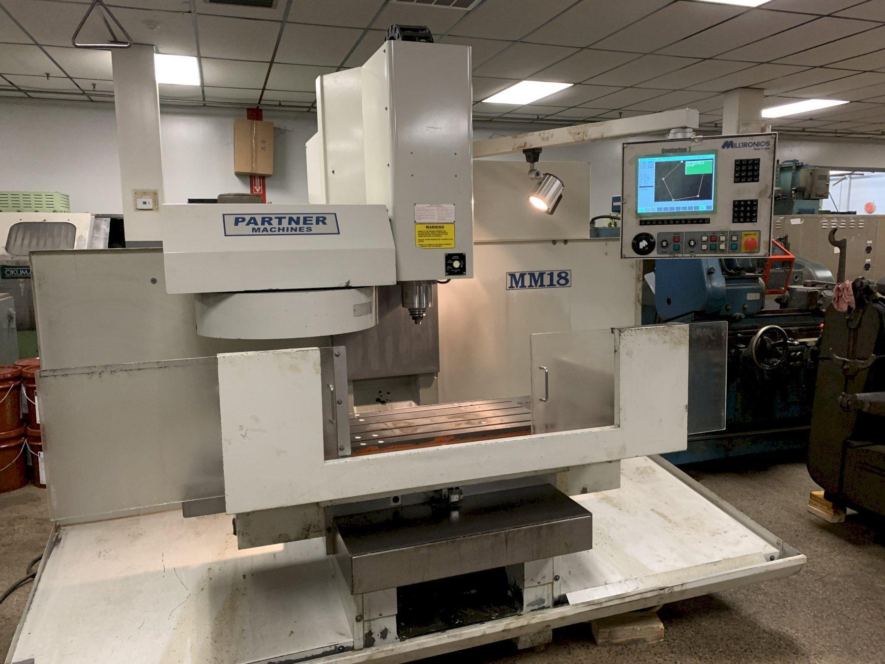 Milltronics Model MM18 CNC Vertical Machining Center, New 2007.
