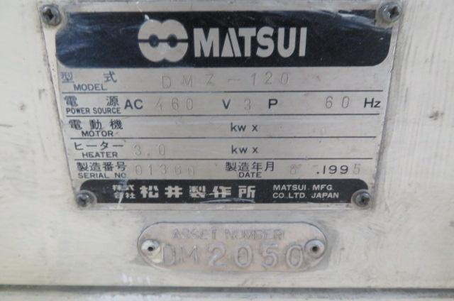 Matsui Used DMZ-120 Material Dryer Desiccant, Yr. 1995, 460V
