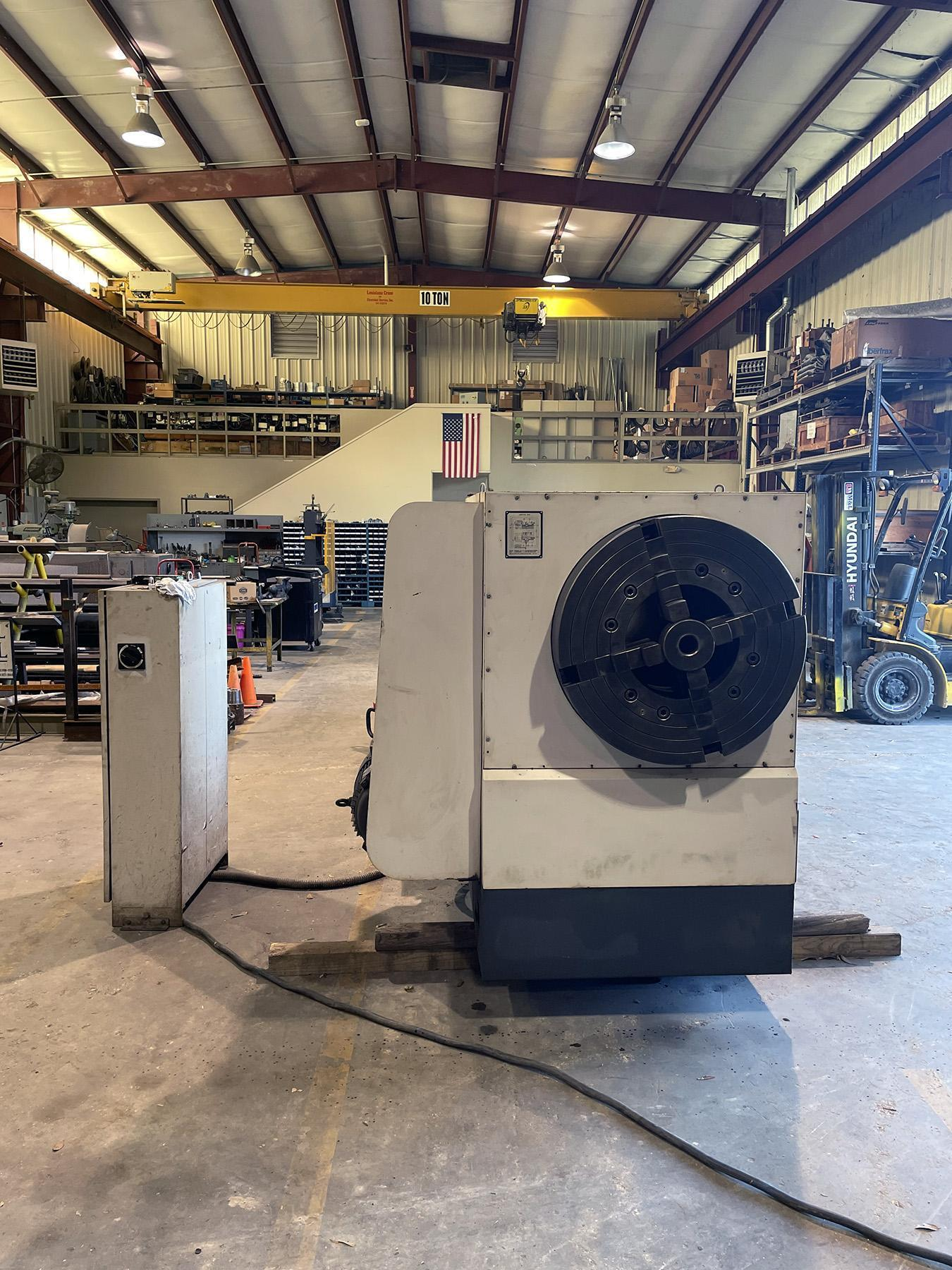 """USED, 35""""  X 120"""" VANGUARD MODEL S1-262A/3000 HOLLOW SPINDLE LATHE WITH 14"""" SPINDLE BORE"""