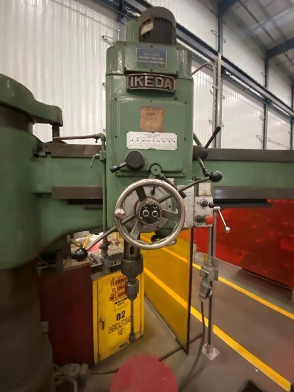 """USED, 4' x 13"""" IKEDA MODEL RM-1375 RADIAL ARM DRILL"""