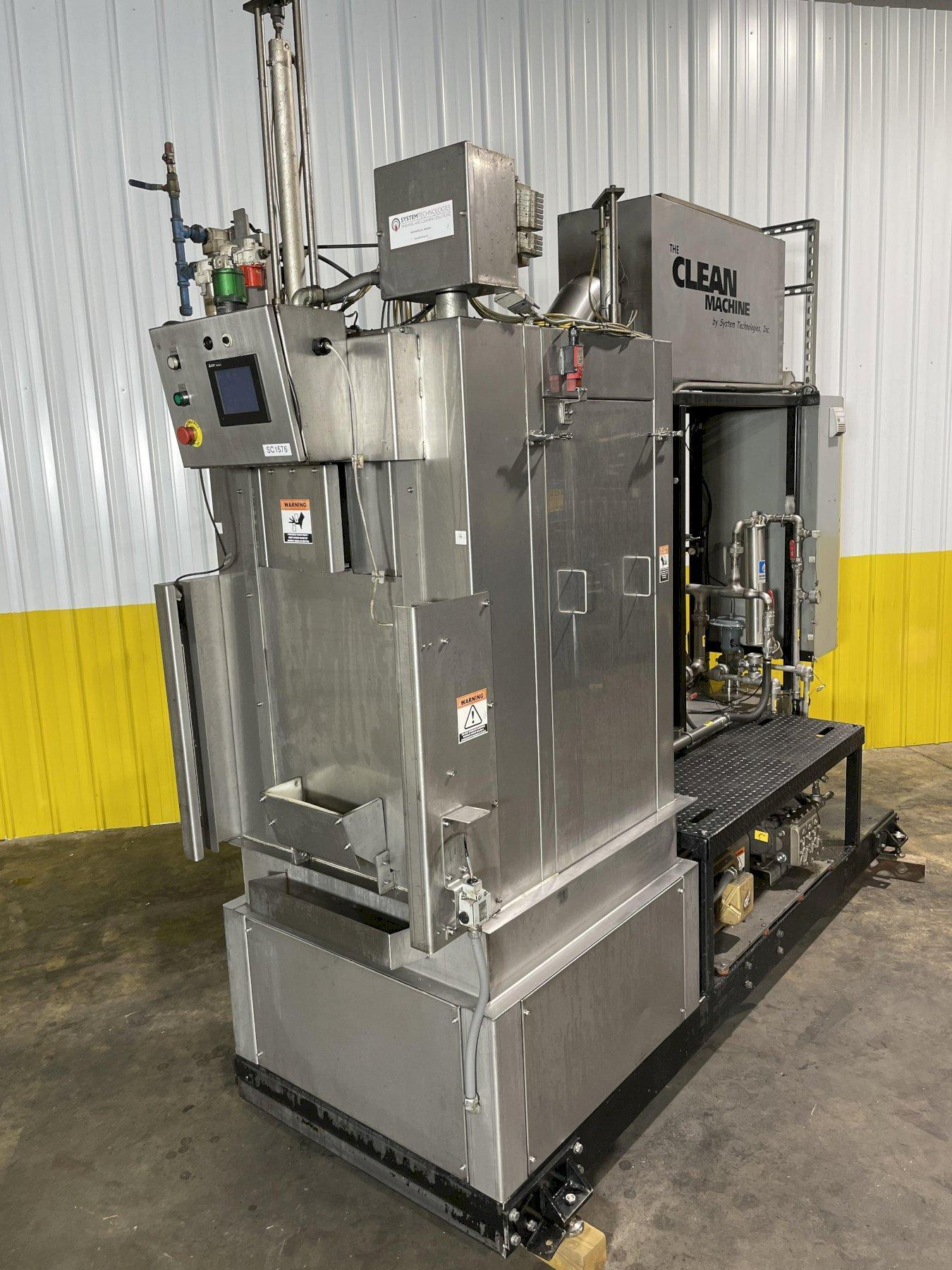 SYSTEM TECHNOLOGIES MODEL @CMI-123-480 CLEAN MACHINE HIGH PRESSURE STAINLESS STEEL PARTS WASHER: STOCK #14483