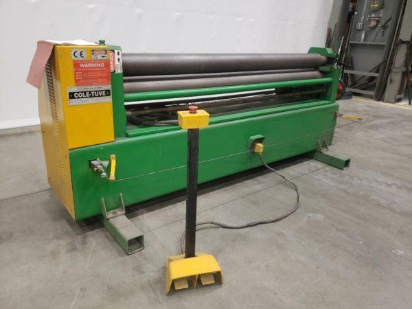 """3/16"""" X 6' COLE TUVE MODEL SR 6-140 INTIAL PINCH PLATE BENDING ROLL"""