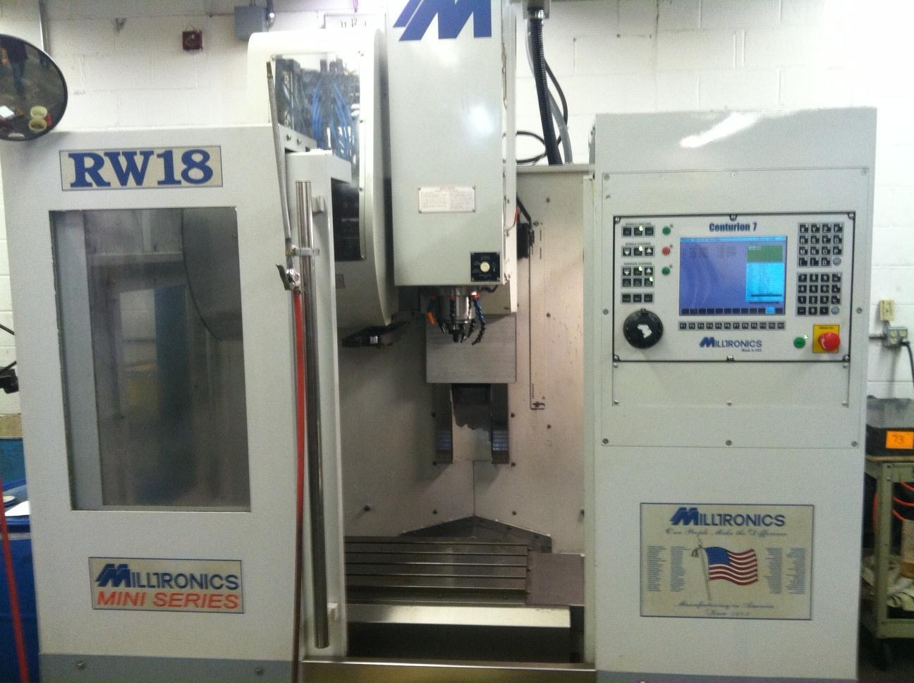 Milltronics RW18 Vertical Machining Center, S/N 8069, New 2004.